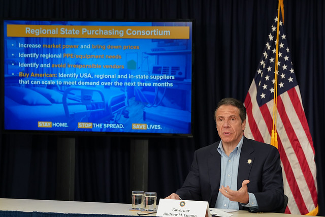 Amid Ongoing COVID-19 Pandemic, Governor Cuomo, Governor Murphy, Governor Lamont, Governor Wolf, Governor Carney, Governor Raimondo & Governor Baker Announce Joint Multi-State Agreement to Develop Regional Supply Chain for PPE and Medical Equipment