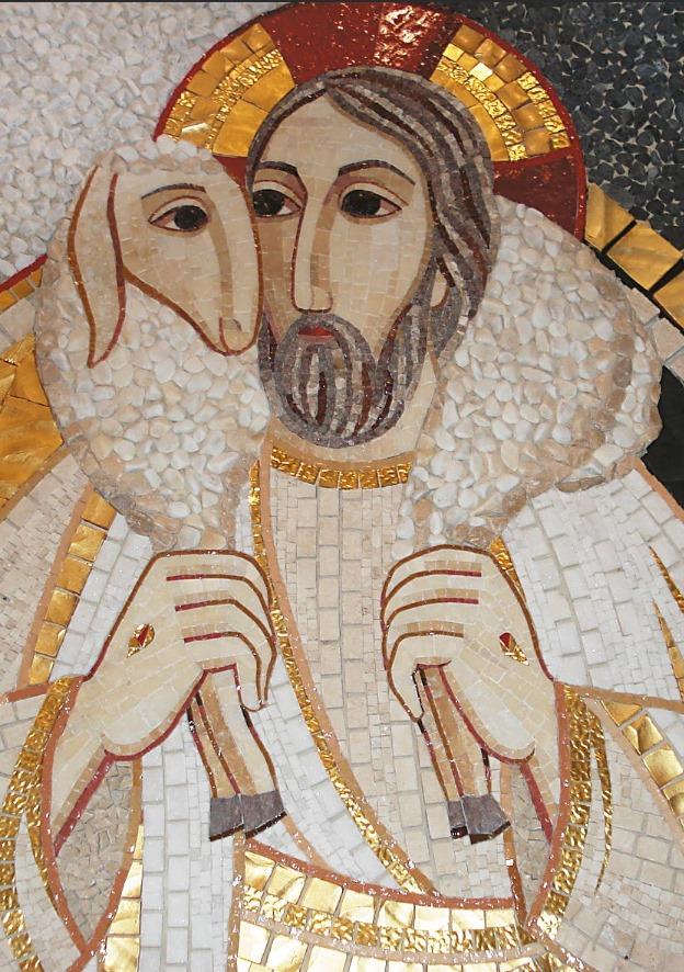 Jesús entrega a Pedro el pastoreo de sus ovejas