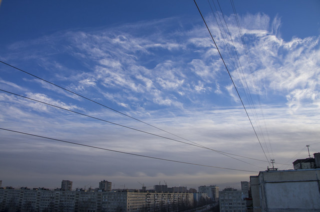 clouds of the frontal boundary