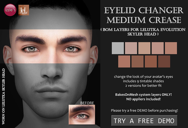 Eyelid Changer Medium Crease (LeLutka Evolution BOM)