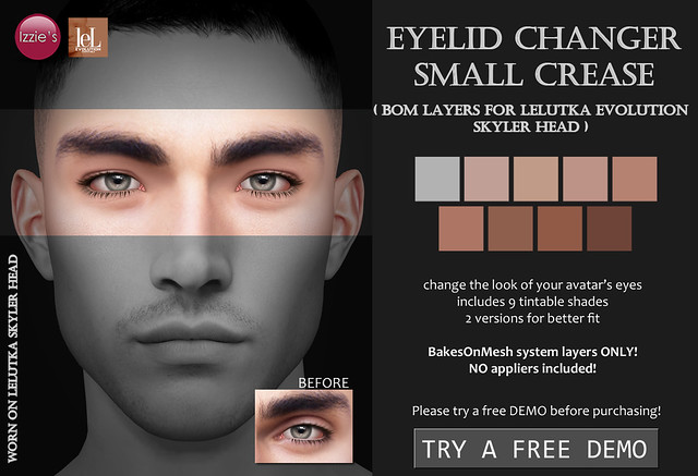 Eyelid Changer Small Crease (LeLutka Evolution BOM)