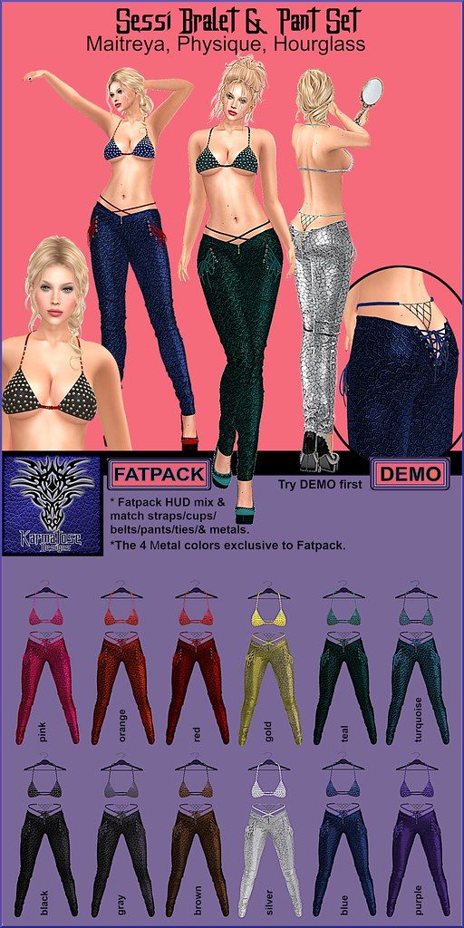 Sessi Bralet and Pant 12 colors mix n match HUD w fatpack.