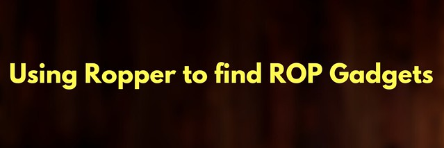 Using Ropper to find ROP Gadgets
