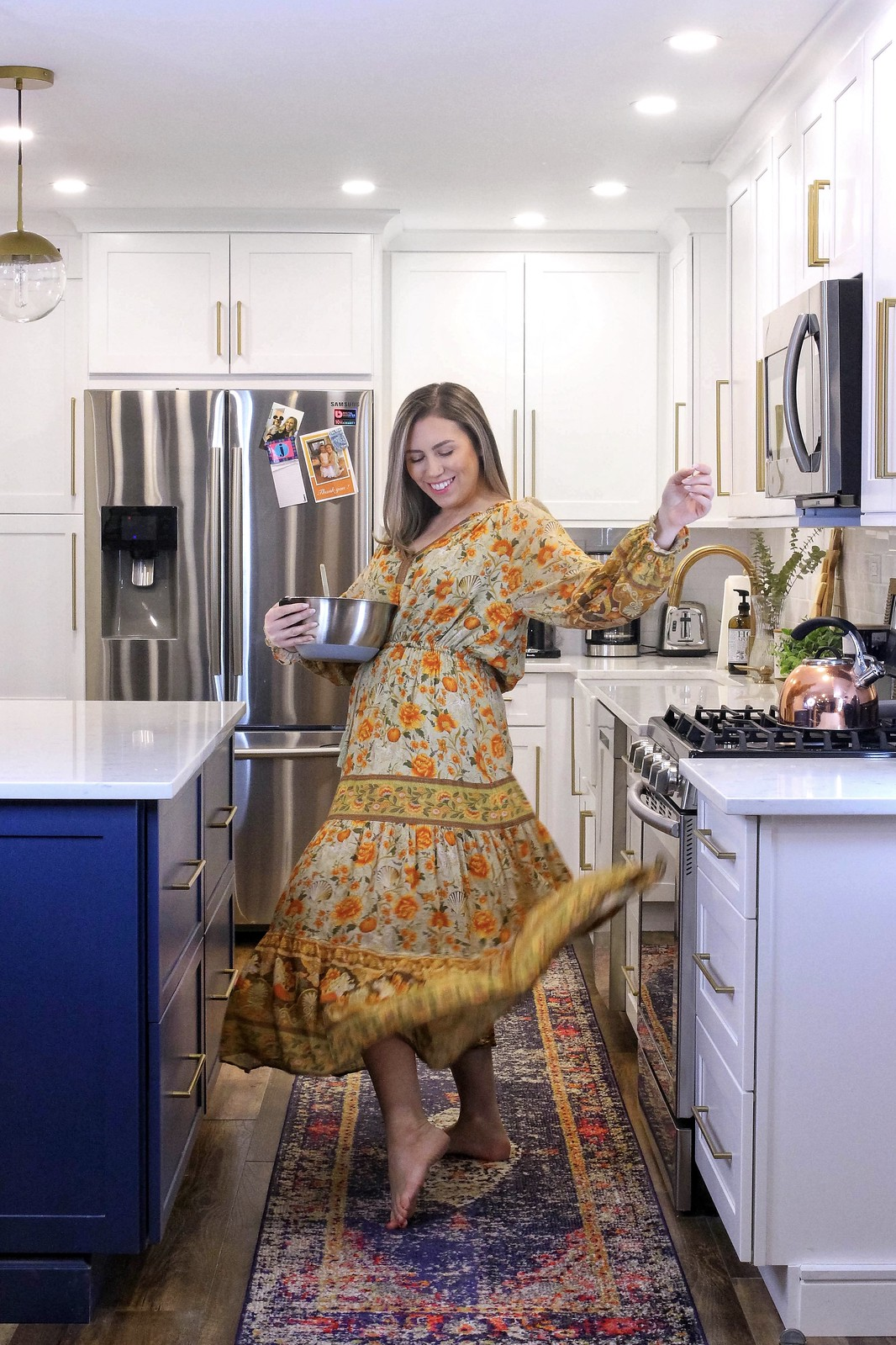 Spell & The Gypsy Seashell Flowing Maxi Dress | Comfortable Dresses | Cooking in the Kitchen | 10 Comfortable Quarantine Outfits That Aren't Sweatpants | Stay At Home Outfit Ideas | Shelter in Place Outfits