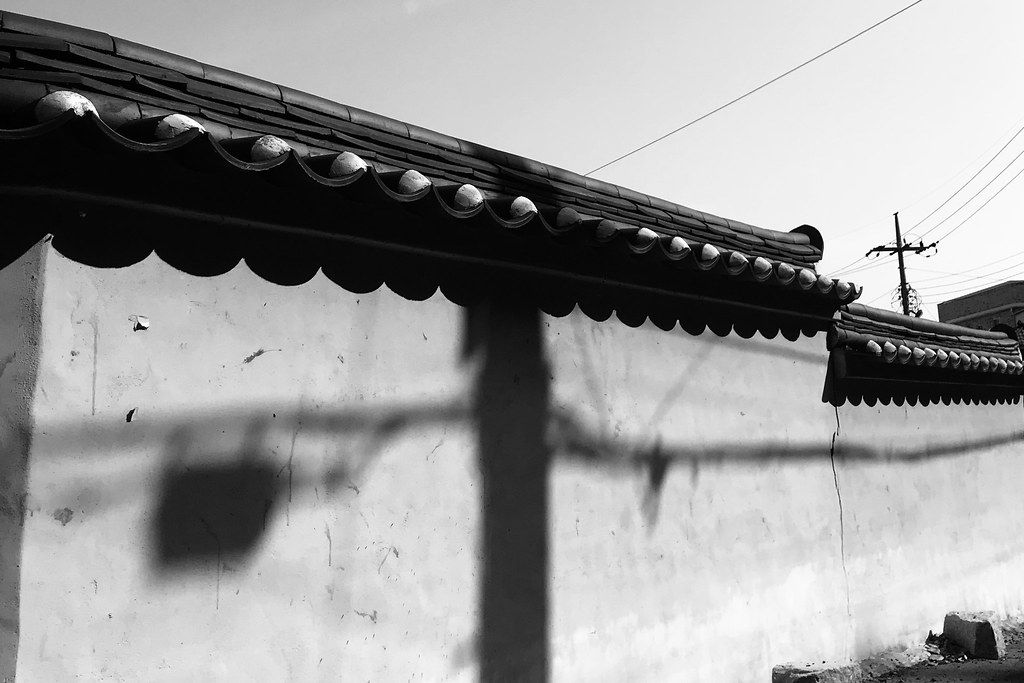 Shadow on a temple's wall