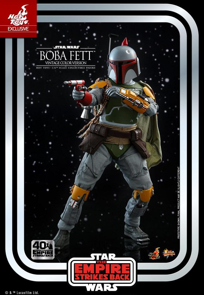 更加亮眼的賞金獵人登場! Hot Toys - MMS571 -《星際大戰五部曲:帝國大反擊》「波巴·費特 (Boba Fett) Vintage Color Version」1/6 比例人偶