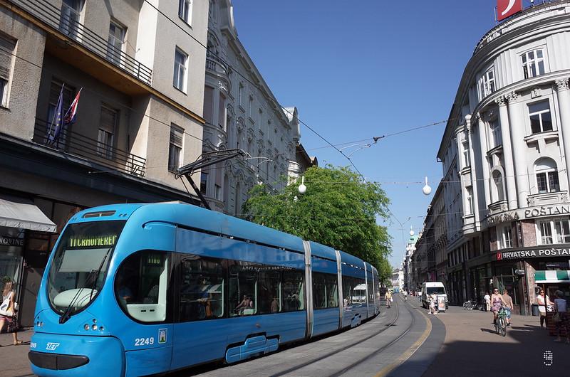首都薩格勒布路面電車系統