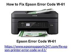 How to Fix Epson Error Code W-61
