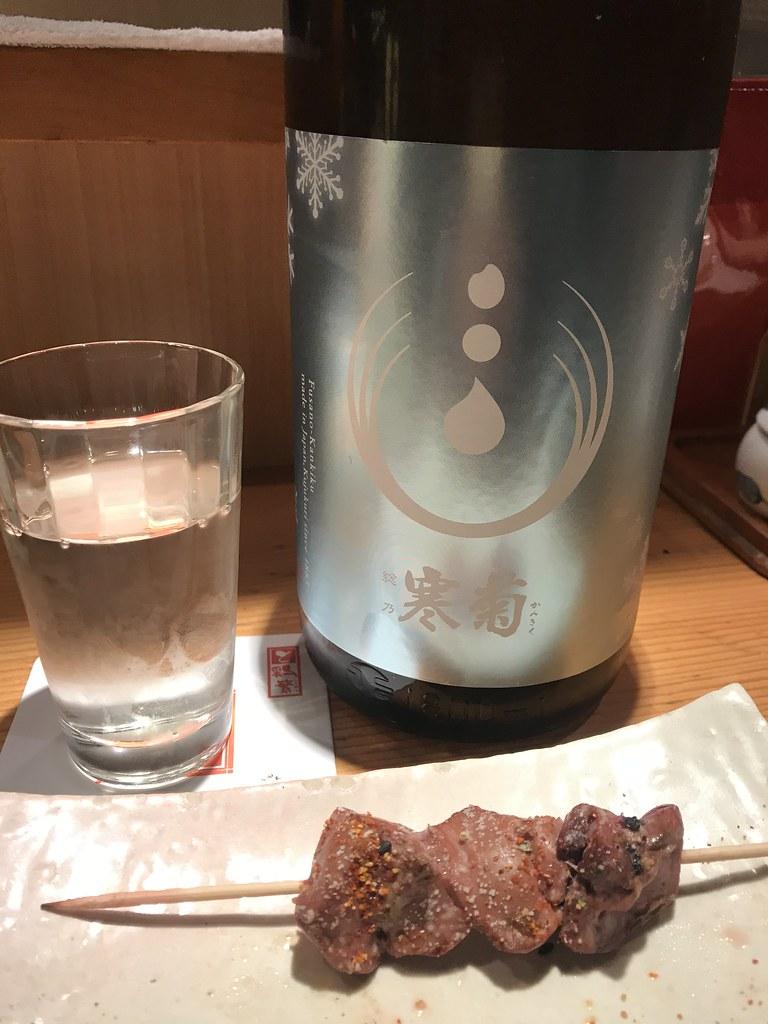 Yakitori and sake @Tori-Shige, Tokyo