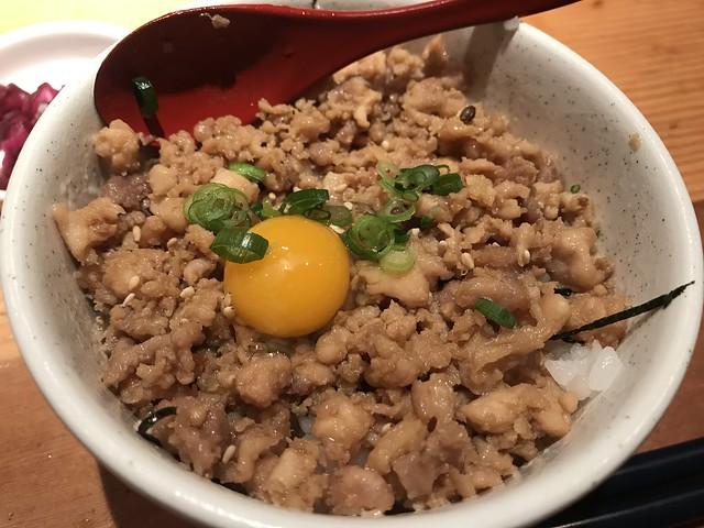 Chicken soboro bowl @Tori-Shige, Tokyo