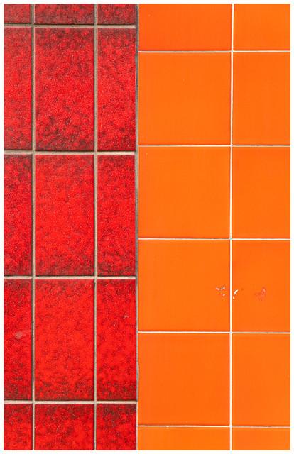 Textures of Partick, Red & Orange