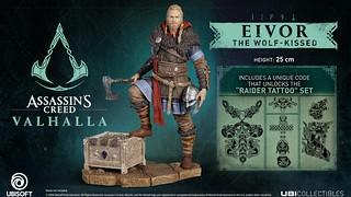 來自維京的孤獨野狼!UBISOFT《刺客教條:維京紀元》埃沃爾 立體人形雕像(Assassin's Creed Valhalla - Eivor The Wolf kissed)