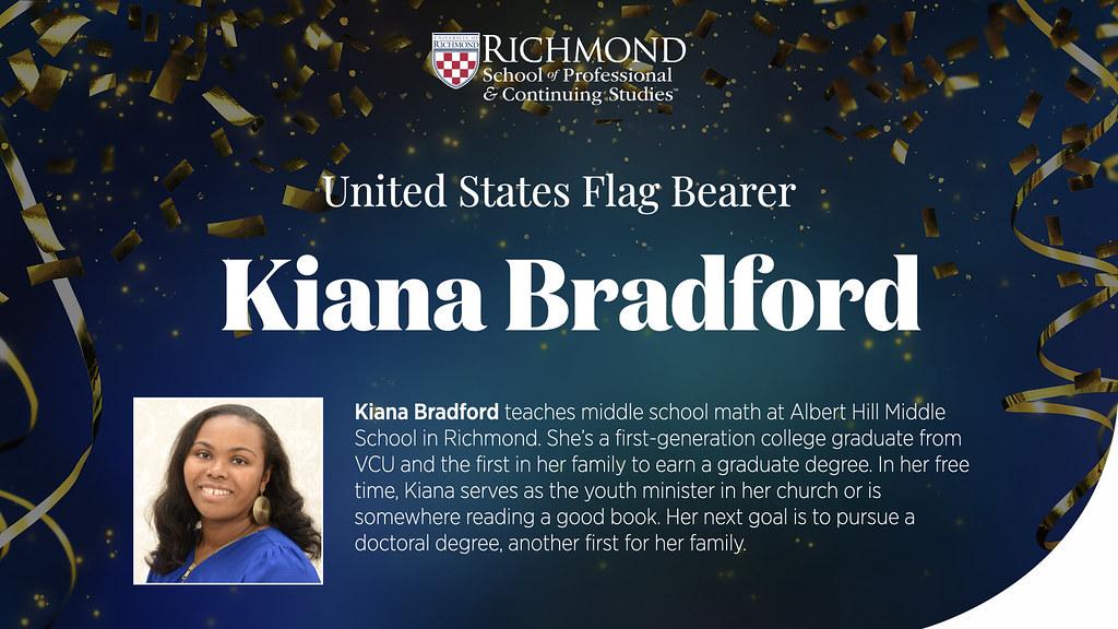 Kiana Bradford, US Flag Bearer