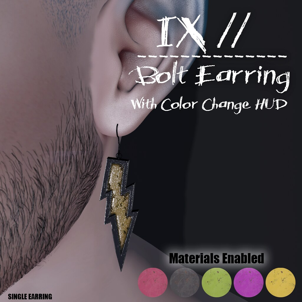 BOLT EARRING HUD VERSION