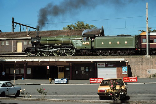 eastwood flyingscotsman lner nsw railway station steam australia kodachrome25