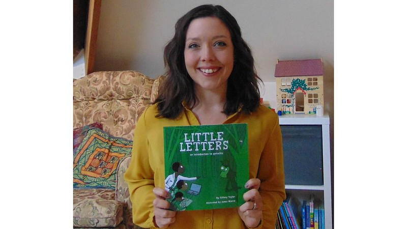 Dr Tiffany Taylor with her new book, Little Letters