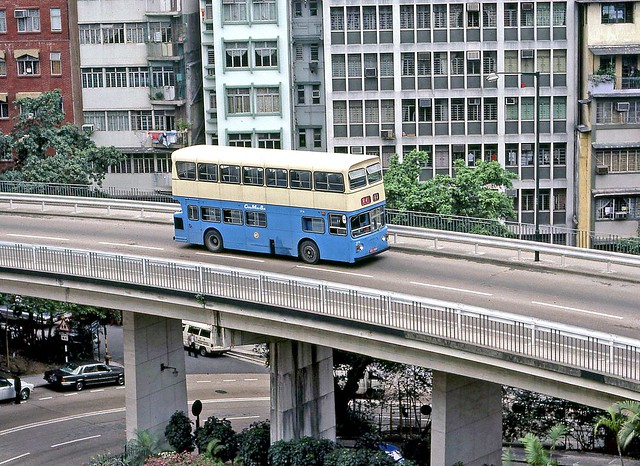 Here endeth the lesson. Hong Kong 1982: CMB SF14 (CD1169) on Upper Albert Road, Central