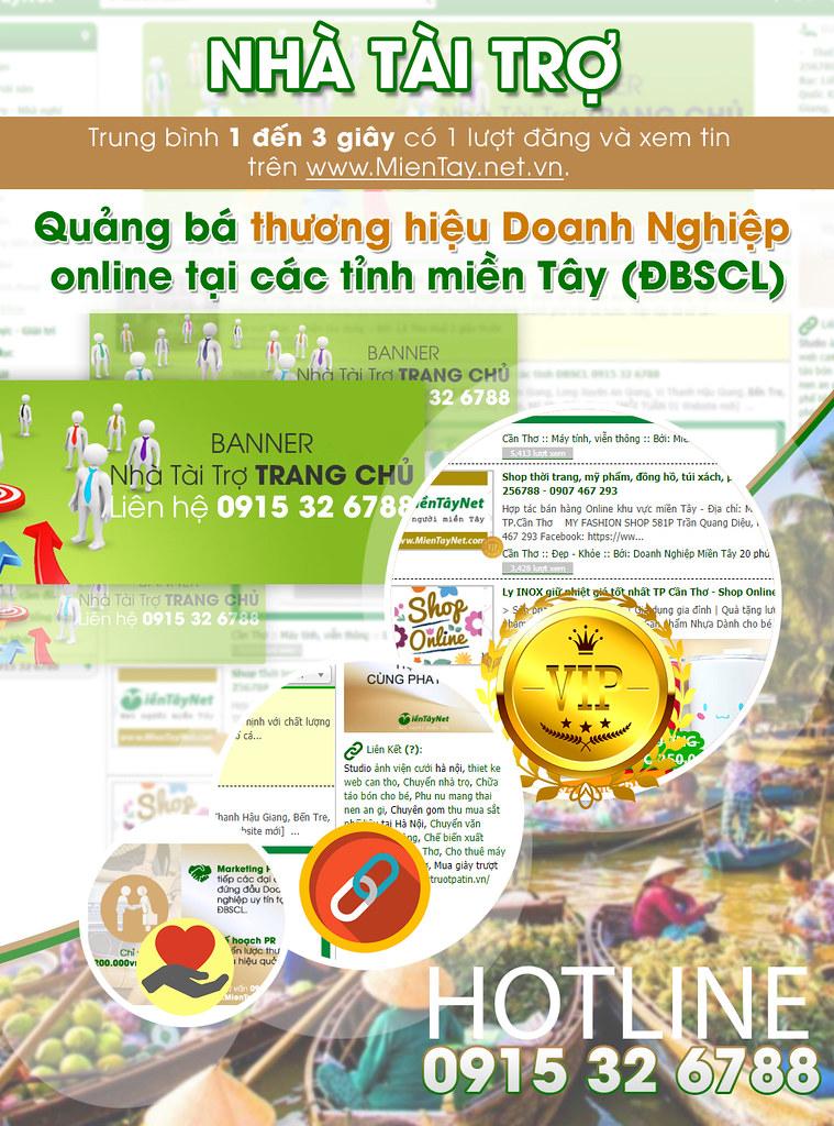 Nhà Tài Trợ trang quảng cáo miền Tây www.MienTay.net.vn 0915 32 6788