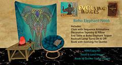 Boho Chair & Elephant Tapestry Nook