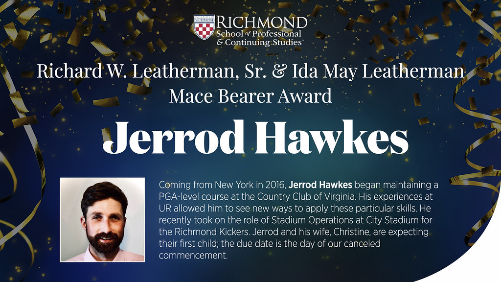 Jerrod Hawkes, Mace Bearer Award