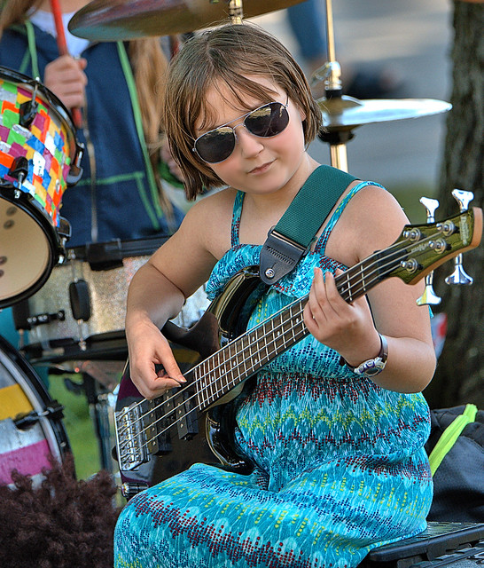 Young Bass Player