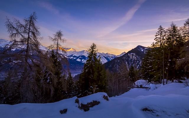 Winter Peaks Sunrise (U83c)