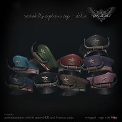 PROMO Rockabilly Captains Hat Delux