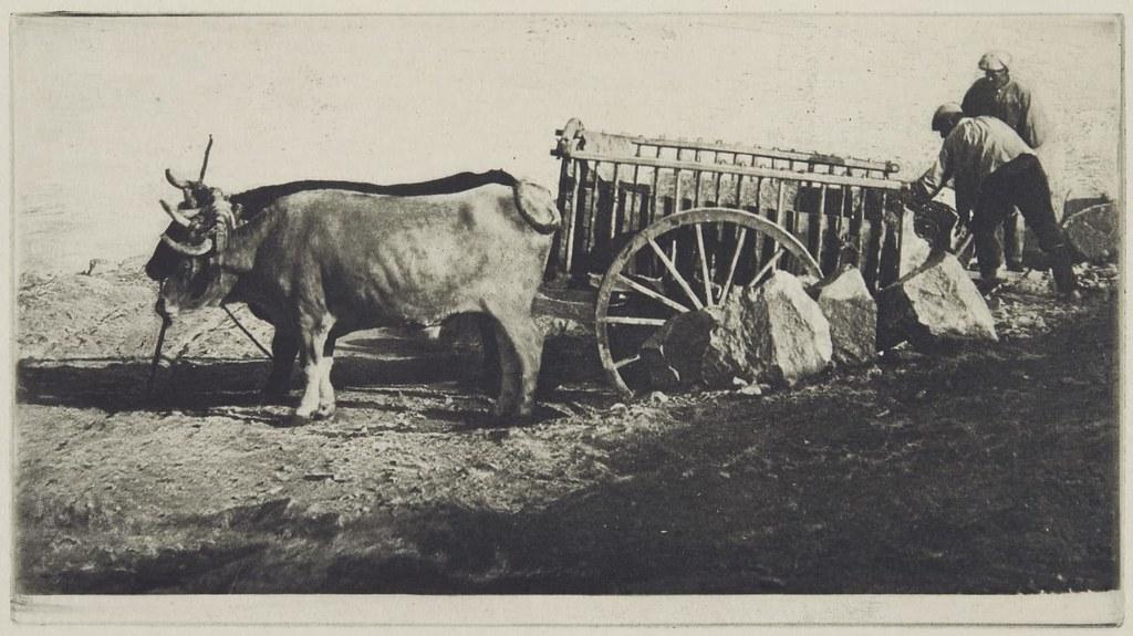 Carro de bueyes en Toledo fotografiado por James Craig Annan en 1913