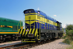 Freshly overhauled and painted Albrail 770-254 on the depot at Podgorica.