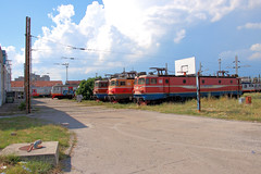 461-044, 461-043, 461-031 and 412-041 outside the depot at Podgorica.
