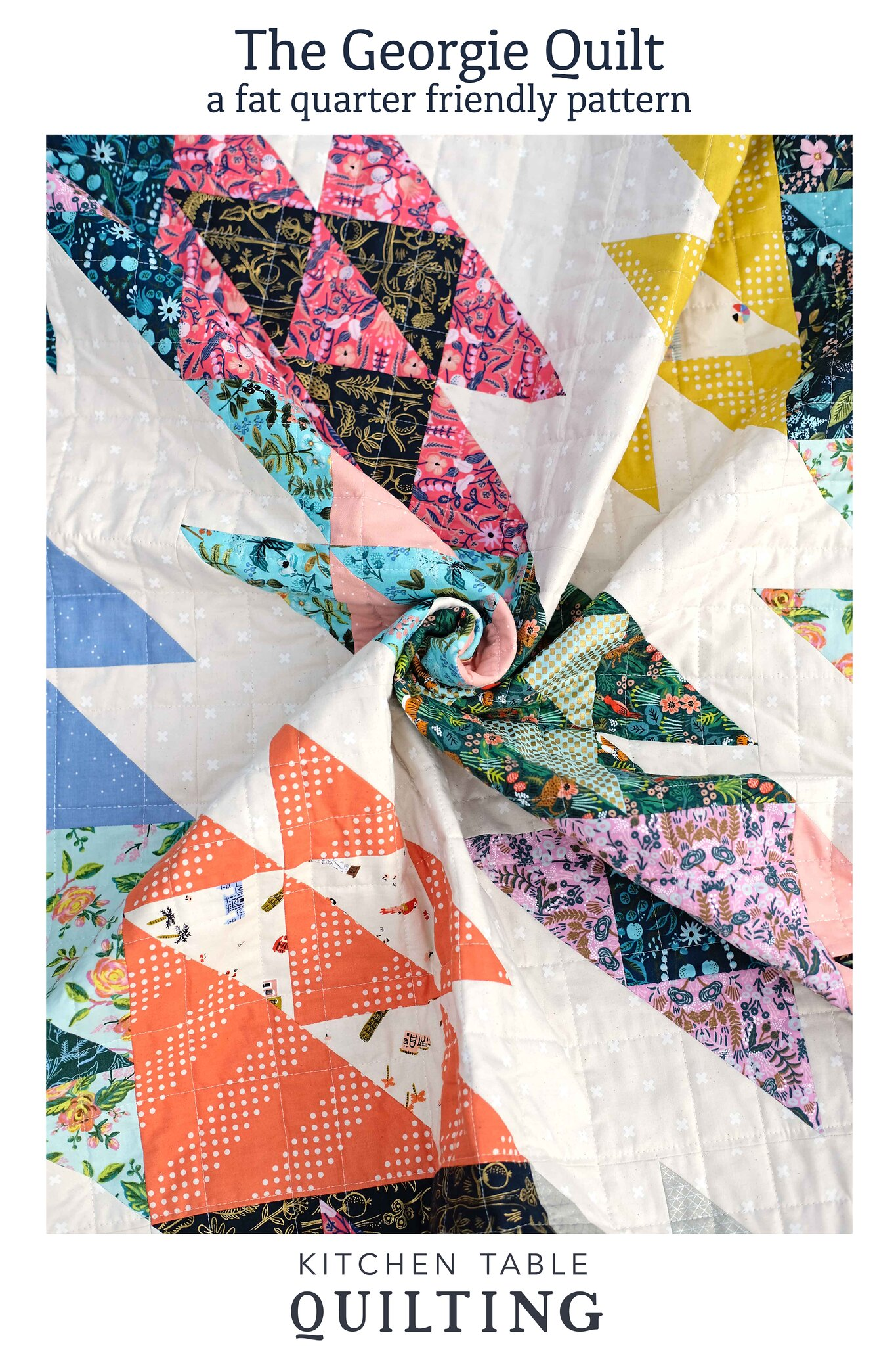 The George Quilt Pattern - Kitchen Table Quilting