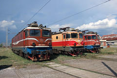 461-031, 461-043, and 461-044 on the depot at Podgorica.