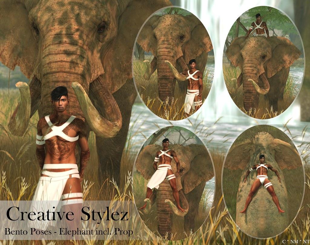 Creative Stylez – Bento Poses – Elefant