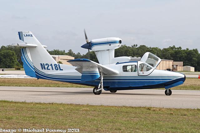 N218L - 1988 Aerofab built Lake LA-250 Renegade, taxiing at Lakeland during Sun 'n Fun 2013