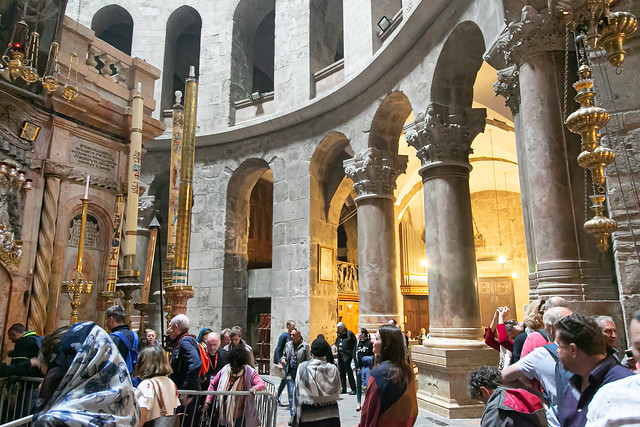 Inside of the Church of the Holy Sepulchre