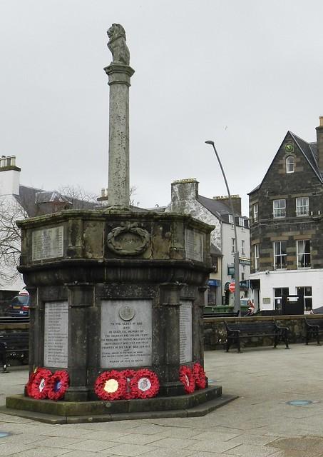 Portree War Memorial, Portree, Isle of Skye, March 2012