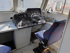 The cab of RVR 412-041 on the depot at Podgorica.