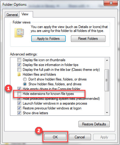 Windows Folder Options