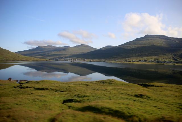 View from a bus between Torshavn and Klaksvík
