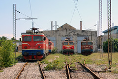 Montecargo 461-027, 461-031 and 461-044, and ŽPCG 461-043 outside the depot at Podgorica.