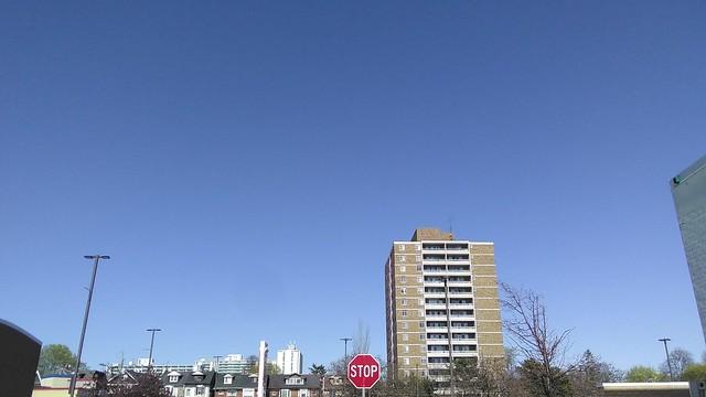 Blue Monday (1) #toronto #dufferinmall #brocktonvillage #blue #spring #afternoon #sky #skyline