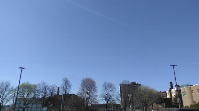 Blue Monday (2) #toronto #dufferinmall #brocktonvillage #blue #spring #afternoon #sky #skyline