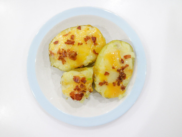 Easy Cheesy Twice Baked Potato Halves Real California Milk Cheese