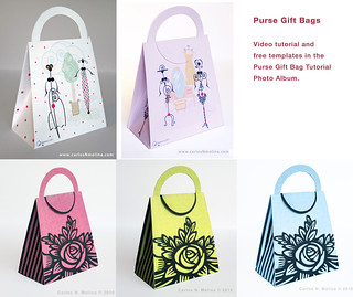 Purse Gift Bags Tutorial and Free Templates