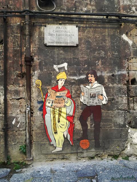 Street art, Piazza Riario Sforza - Napoli