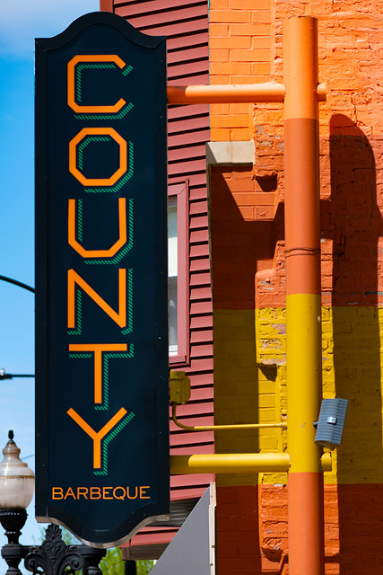 Colorful County Barbeque Sign