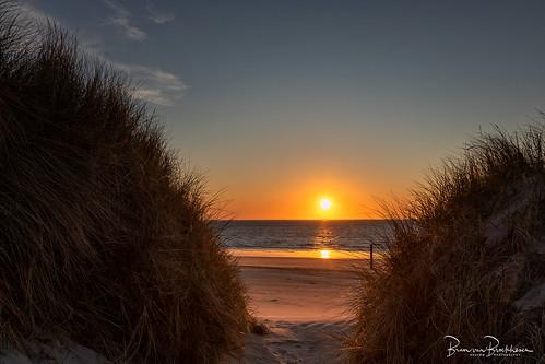 Sunset between the dunes