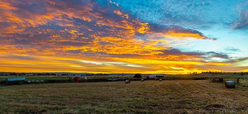 killarney queensland australia sunset clouds colour panorama pano panoramic stitched