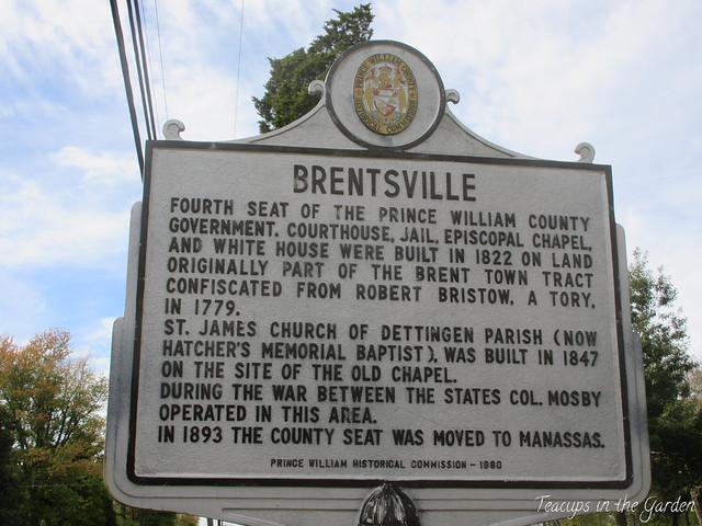 1822-1893 Brentsville Historical Marker