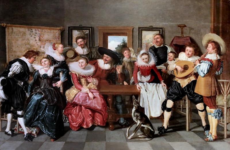 IMG_0066 Dirck Hals. 1591-1656. Haarlem. Une joyeuse compagnie musicale A merry musical company. Prague Galerie Nationale Sternbersky Palac